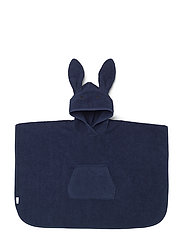 Orla poncho rabbit - NAVY