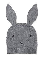 Knit hat rabbit - GREY MELANGE