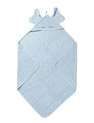 Augusta hodded towel elephant - BABY BLUE