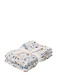 Hannah muslin cloth 2 pack - OFF WHITE