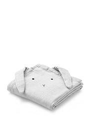 Hannah muslin cloth 2 pack rabbit - DUMBO GREY