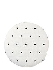 Kaj Knit Pillow - CREME DE LA CRèME / DARK GREY