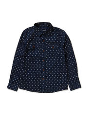 NONAS KIDS LS SHIRT 514 - Dress Blues