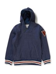 LASSE KIDS LS SWEAT W HOOD  LMTD5 X-AU14 - Dark Denim