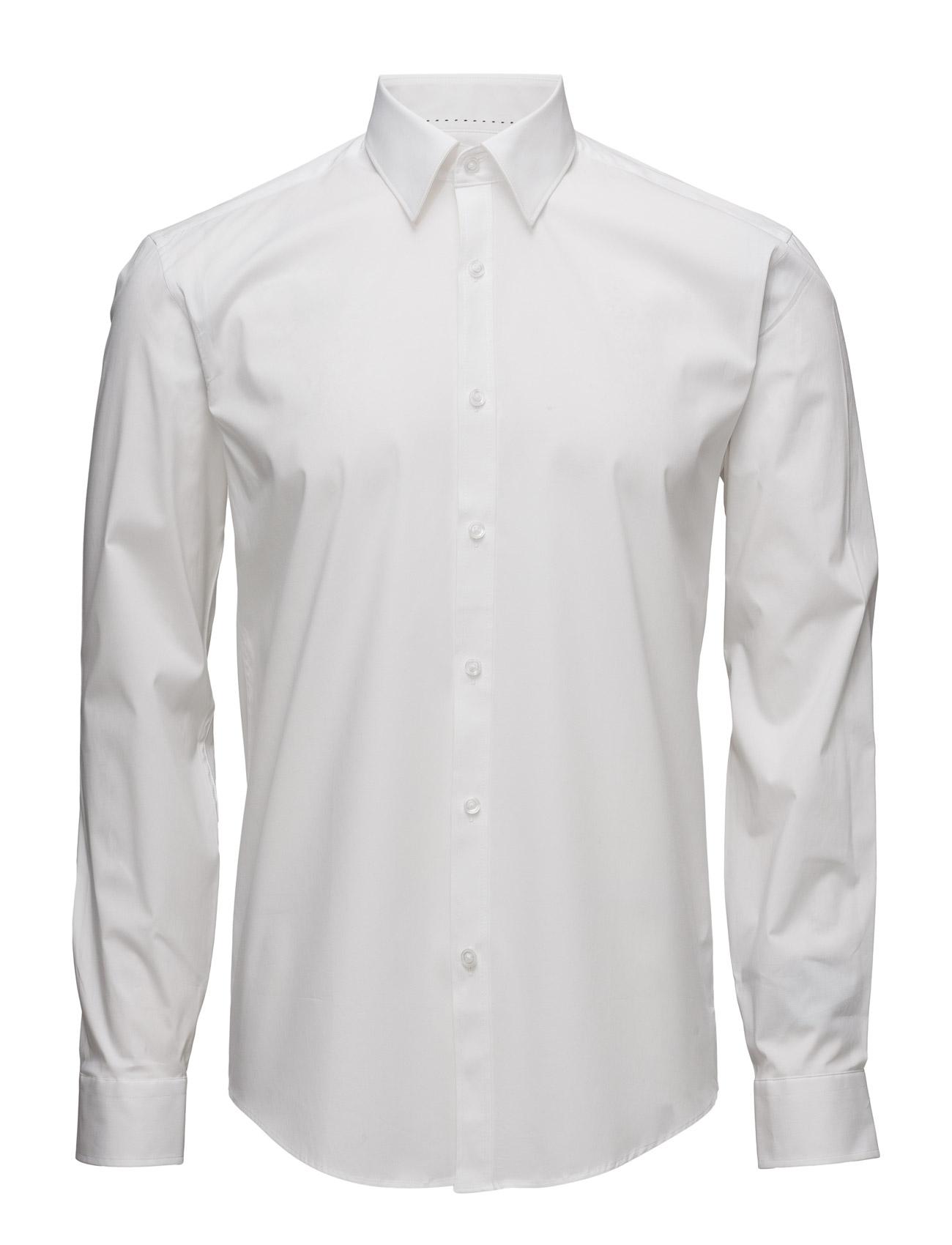Men'S Stretch Shirt L/S Lindbergh Business til Herrer i hvid