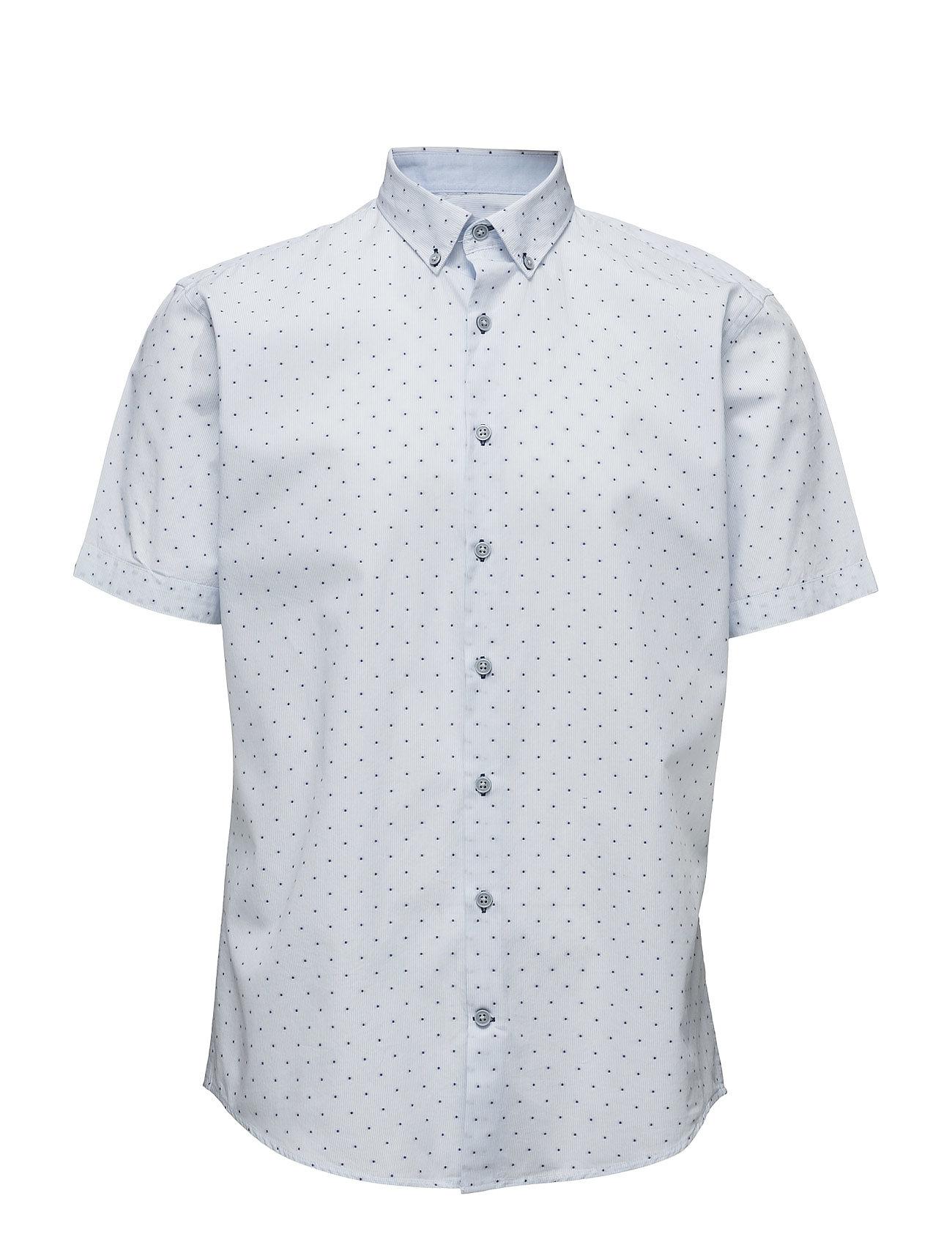 Striped Shirt S/S Lindbergh Kortærmede til Herrer i hvid