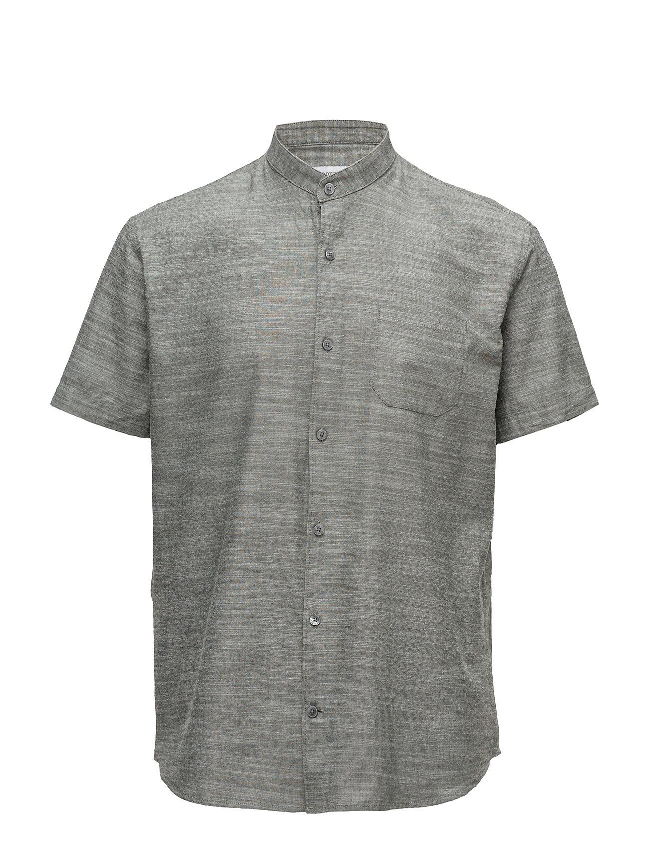 Mandarin Collar Shirt S/S Lindbergh Kortærmede til Herrer i