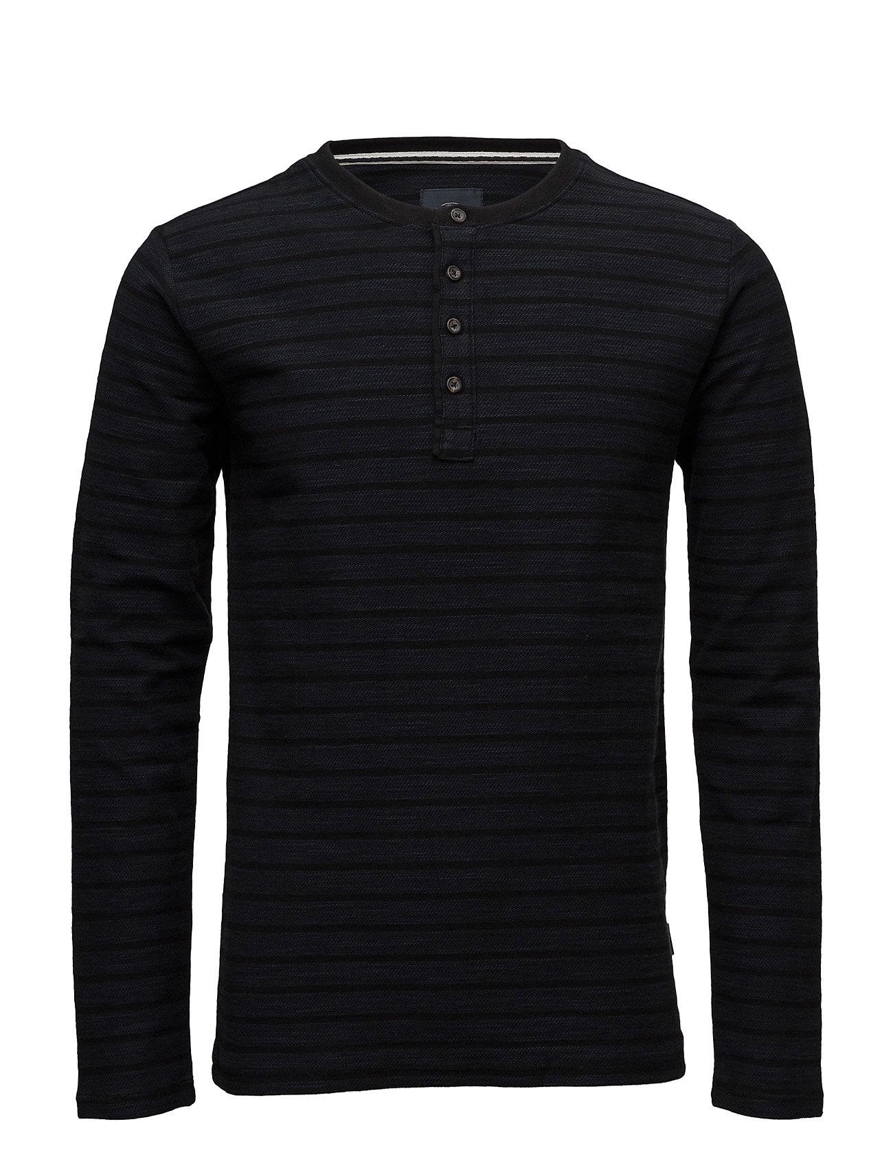Stripedgranddadl/S Lindbergh T-shirts til Mænd i dk Blå