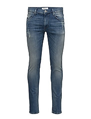 5pocketstretchdenim - COOL BLUE