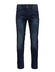Tapered fit jeans grinded blue - GRINDED BL