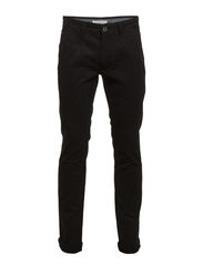 Classic chino w/slash pockets - BLACK