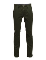 Classic chino w/slash pockets - PINE GREEN