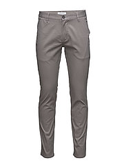 Classic chino with stretch - CLAY