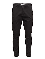 Casualpantw.elasticbottom - BLACK