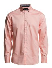 Plain shirt with contrast - CORAL