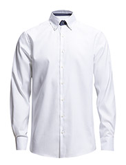 Plain shirt with contrast - SNOW WHITE