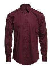 Men's Stretch Shirt L/S - BORDEAUX