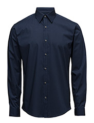 Men's Stretch Shirt L/S - INK BLUE