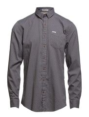 Dot shirt L/S - GREY MEL