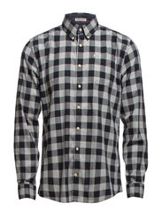 Check shirt L/S - BLACK