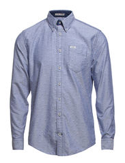 Diamond oxford shirt L/S - BLUE