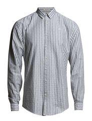 Striped Oxford shirt l/s - BLACK