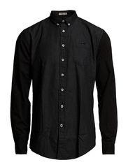 Block shirt l/s - BLACK