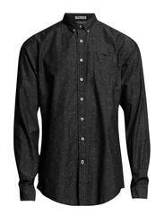 Print shirt l/s - BLACK