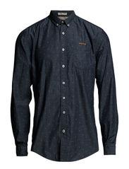 Print shirt l/s - DK BLUE
