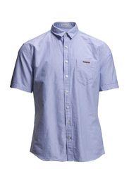 Oxford anchor shirt S/S - LT BLUE