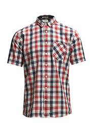 Check shirt S/S - RED