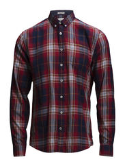 Check shirt L/S - RED