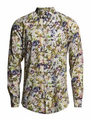 Flower printed shirt L/S - BRIGHT GREEN