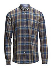 CheckedL/Sshirt - ORANGE