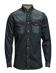 DenimL/Sshirt - BLUE