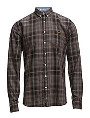 CheckedL/Sshirt - DK GREY
