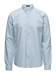 OxfordshirtL/S - LT BLUE