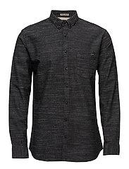 Classic one pocket shirt L/S - BLACK