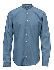 Mandarin shirt L/S - LT BLUE