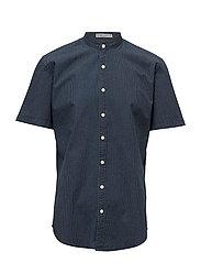 Two colour S/S shirt - BLUE