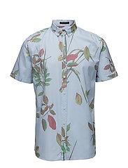 AOP flower S/S shirt - LT BLUE