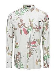 AOPflowerL/Sshirt - WHITE