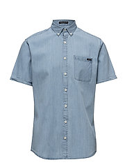 Chambray shirt S/S - LIGHT BLUE