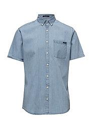 Chambray shirt S/S - LIGHT BLUE