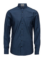 OxfordshirtL/S - BLUE
