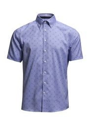 Oxford shirt with jacquard S/S - LT BLUE
