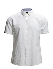 Linen shirt S/S - WHITE