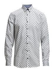 Shirtw.jacquardpatternL/S - WHITE