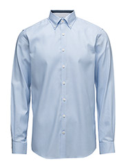 OxfordshirtwithcontrastL/S - LT BLUE