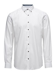 OxfordshirtwithcontrastL/S - WHITE